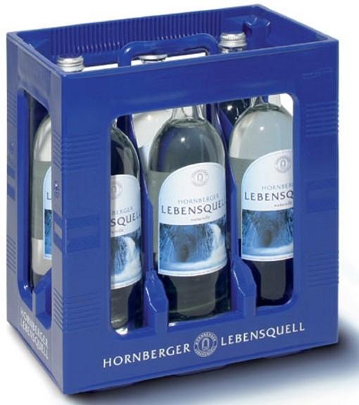 Hornberger Lebensquell naturelle 6 x 1 litre de verre soluble encore bouteille boîte d'origine