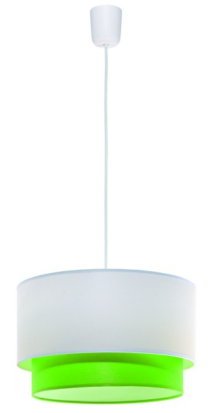 LAMPEX lampe suspension Lida PVC vert / tissu 80 x 35 cm