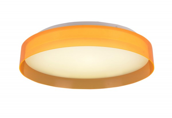 LAMPEX plafond Giga 35orange LED métal / PVC 5 x 35 cm