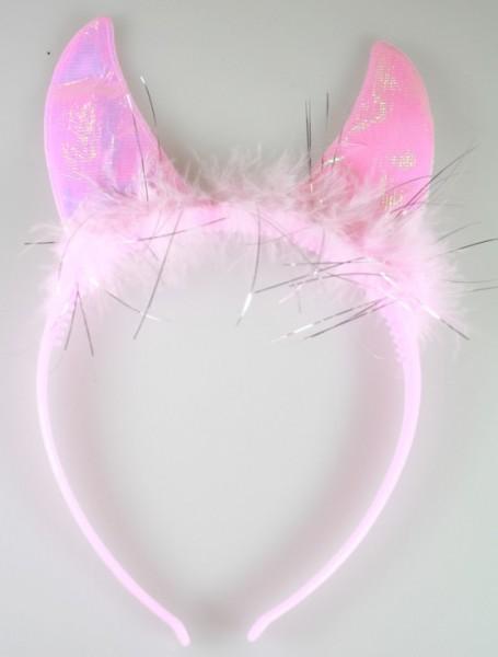 Bandeau Rose, avec des oreilles de chat