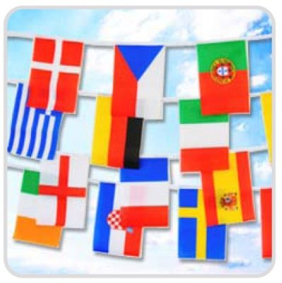 Chaîne de drapeau...International...5 m