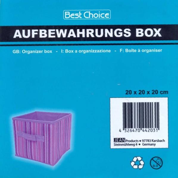 boîte de rangement violet 20x 20x 20cm