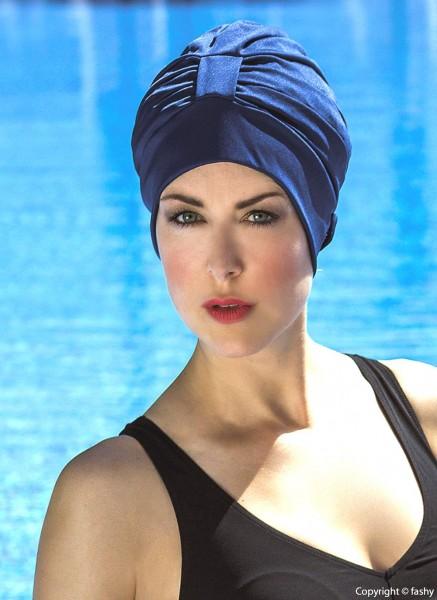Dames de bonnet de bain en polyester marine bonnet de bain