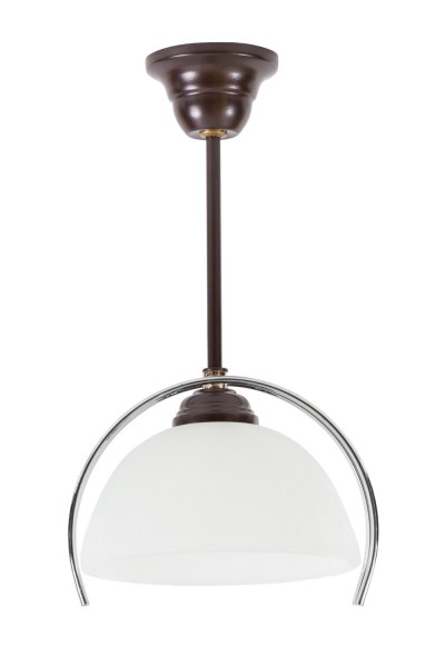 LAMPEX lumière pendante métal / verre 33 x 22 cm