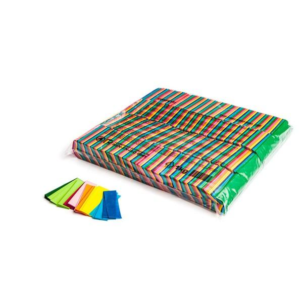 MAGICFX rectangles lente chute de confettis 55x17mm - Multicolore confetti rectangulaire
