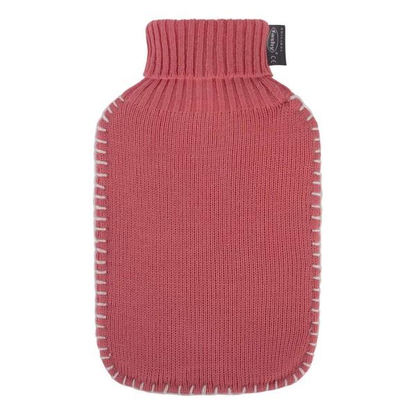 fashy 6715_47 Bouillotte avec col roulé, corail - 2 litres