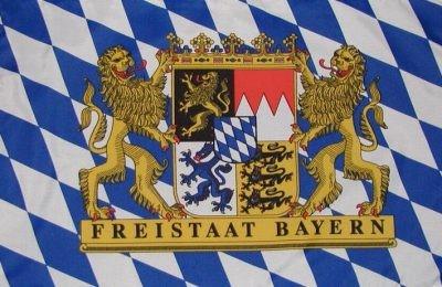 Drapeau Bavière avec Free State blason 90 x 150 cm
