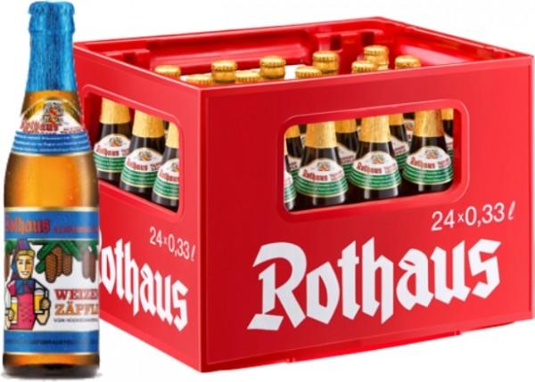 24 x Rothaus Hefeweizen sans alcool 0,33 L caisse d'origine