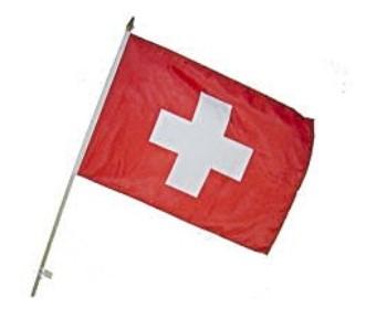Bannière au bâton de bois...Suisse