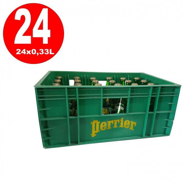 24 bouteilles d'eau minérale Perrier de 0,33 L en boîte d'origine