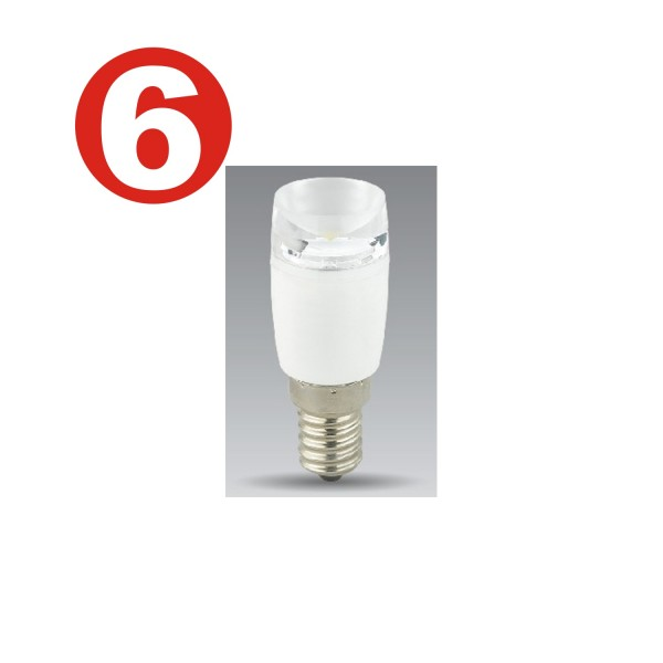 6 x Un meilleur éclairage - Ampoules LED - BT6683 - 1.4W lampes décoratives LED E14 90lm