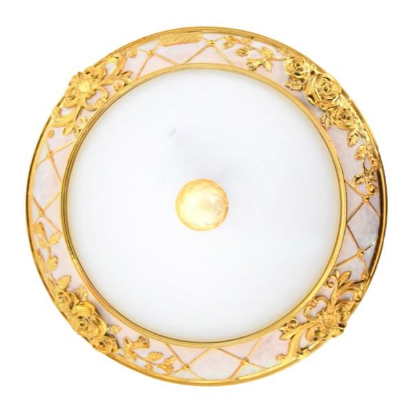 Applique et plafonnier Stolte Classique Rose Shade d'or: verre diffuseur Chassis: scintillement métallique