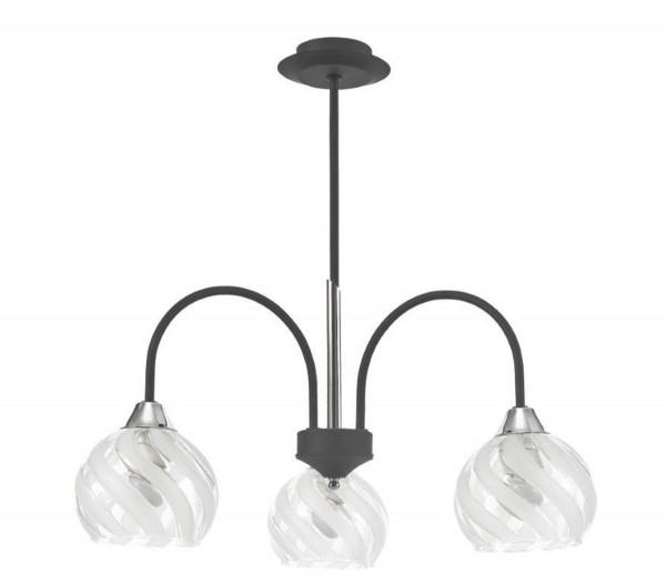 LAMPEX lustre Baron 3 métal / verre 47 x 55 cm