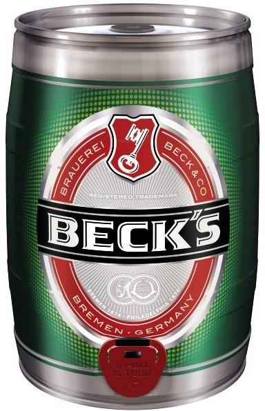 Pils 5 litres Fut de bière Allemande Becks 4,9% vol