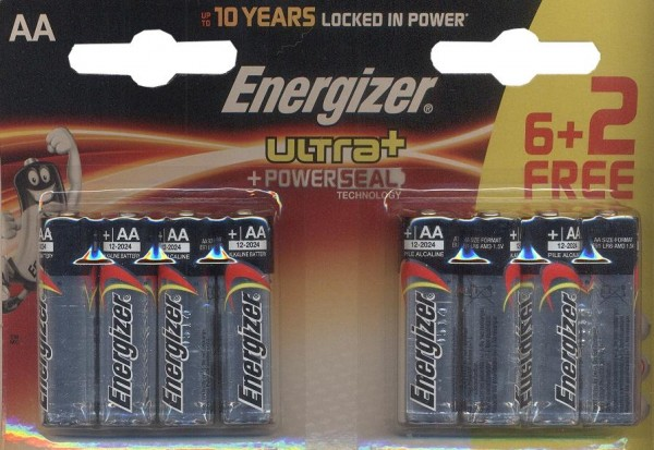 Energizer Ultra AA alcalines LR6 8
