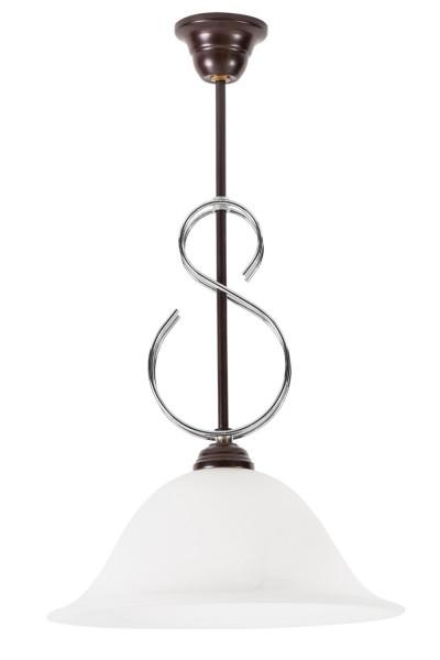 LAMPEX lumière pendante métal / verre 50 x 30 cm