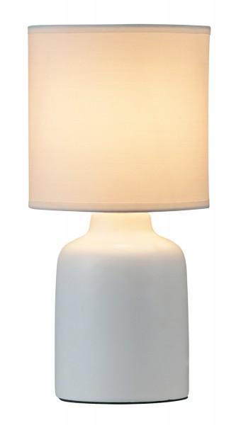 Lampe de table Rabalux Ida abat-jour blanc: textile