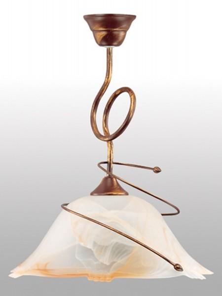 lampe suspension LAMPEX Sanki 1 métal / verre 43 x 36 cm