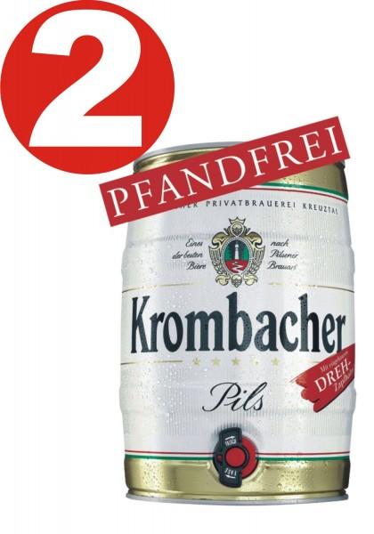 2 x Krombacher Party Keg 5 L 4,8% vol.-RÉDUIT Date d'expiration: 12-2019