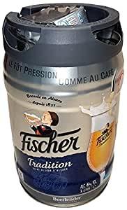 Bière blonde Fischer 5 litres 6,0% vol. avec robinet Fût Party JETABLE