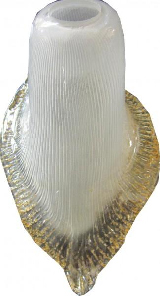 Verre de remplacement pour lampe de sol de la lampe Forme lactée Verre Or rand de couleur