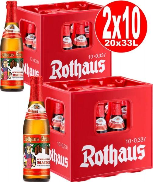 20 x Rothaus Schwarzwald Maidle 0,33l 5,1% vol. 2 x 10er cas d'origine