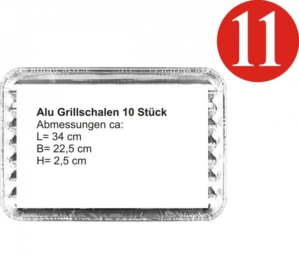 Rewe Plateaux de Grill en aluminium 10 piece-Copy