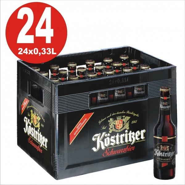 24 x Koestritzer Schwarzbier 0,33 Boîte originale 4,8% Vol. Alc