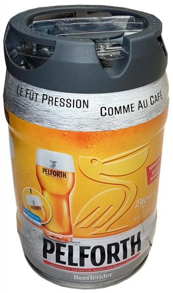 Fut de bière Pelforth blond partie de 5 litres Keg 5,8% vol. avec robinet