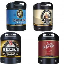 4x biere Perfect Draft Différentes variétés 6 litres Alcool voir la description fût de bière
